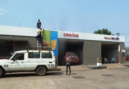 Solar installations at TOTAL Liberia fillling stations